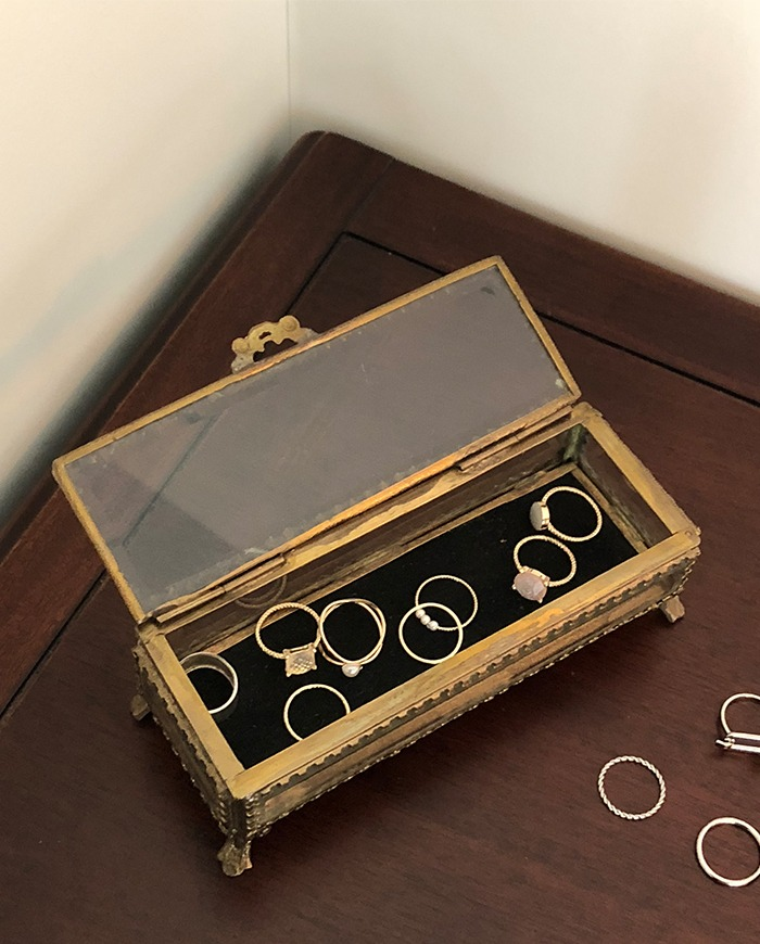 [objet 002] Vintage square jewel box