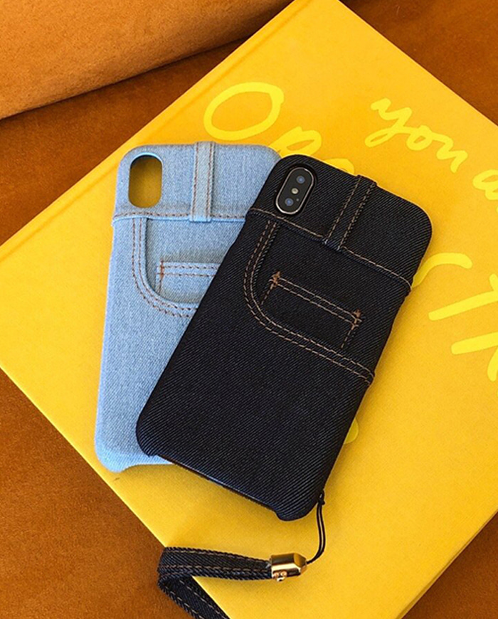 Denim jean case (2color)