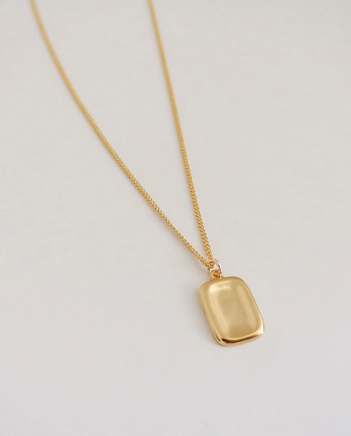 Simple board necklace (2color) N 41