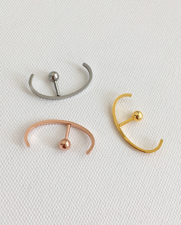 Simple ear cuff piercing (3color)