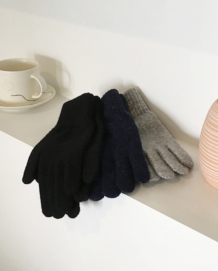 Plain basic gloves (4color)