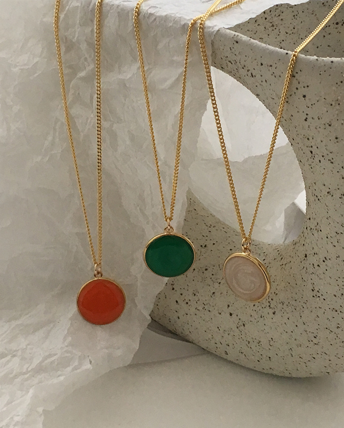 Color Marble Necklace N 97