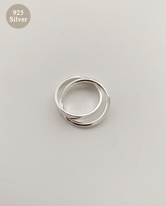 [925 Silver] Three Rings B 78