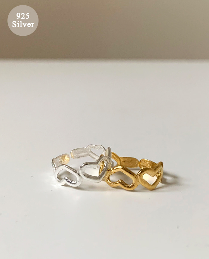 [925 silver] Heart Aki Ring B 60