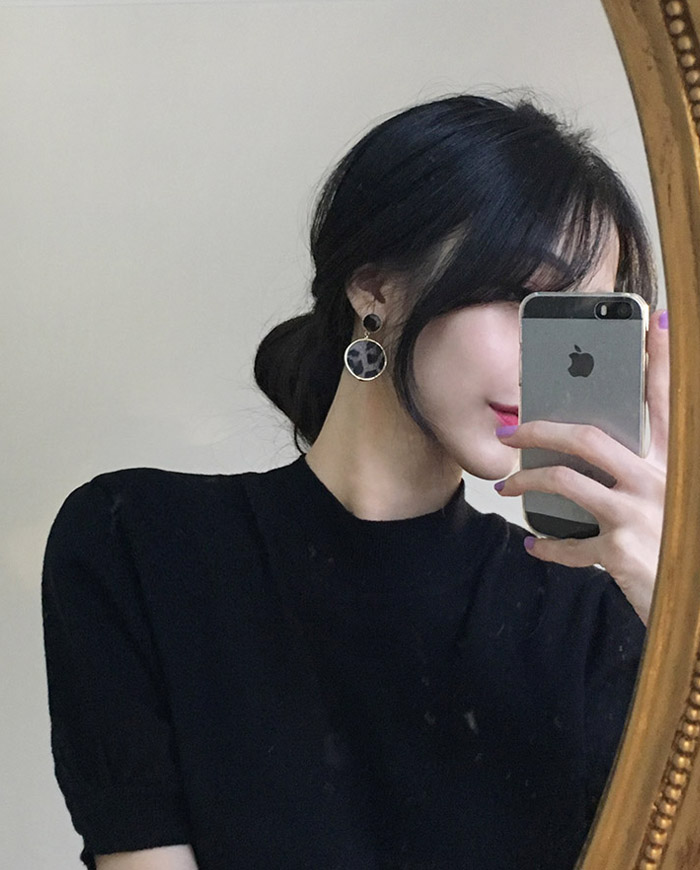 [무료배송] Leopare two ring earring (2color)  04