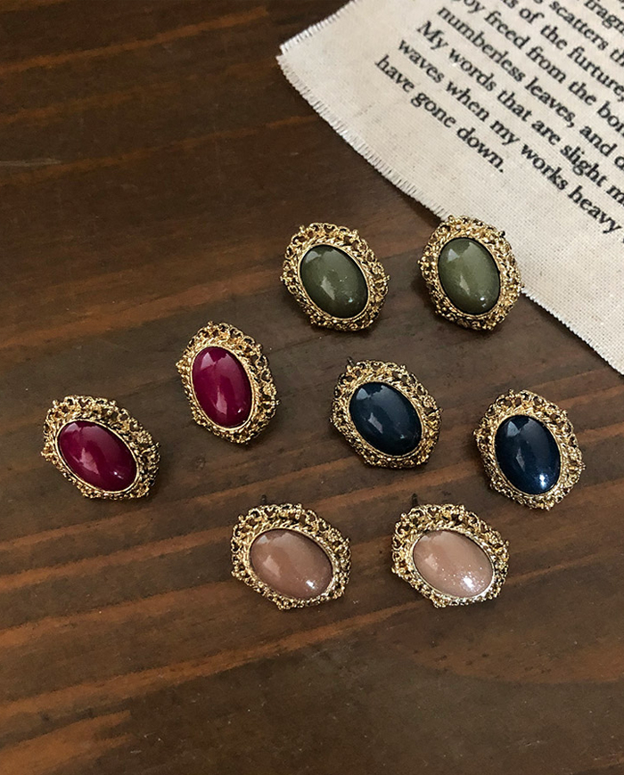 Antique pendant earring (4color)  E72