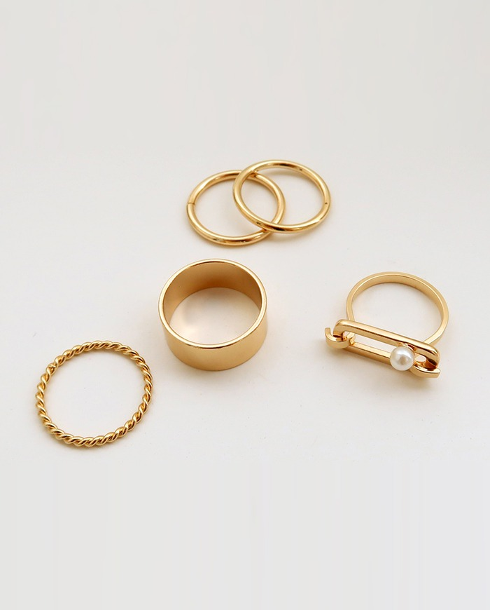 Thick line ring set (2color)  R 27
