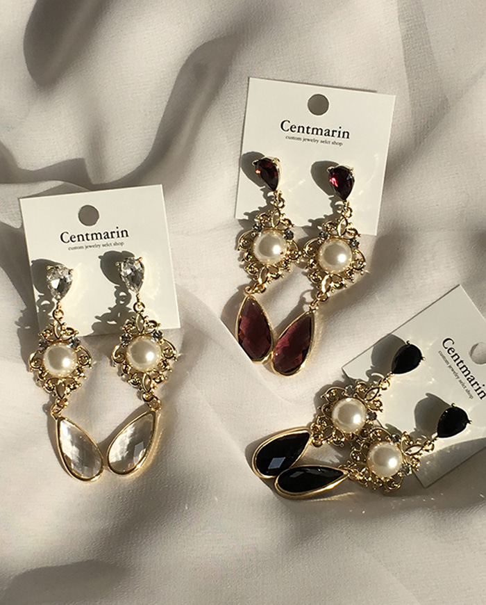 Clippy cubic earring (3color)  E143