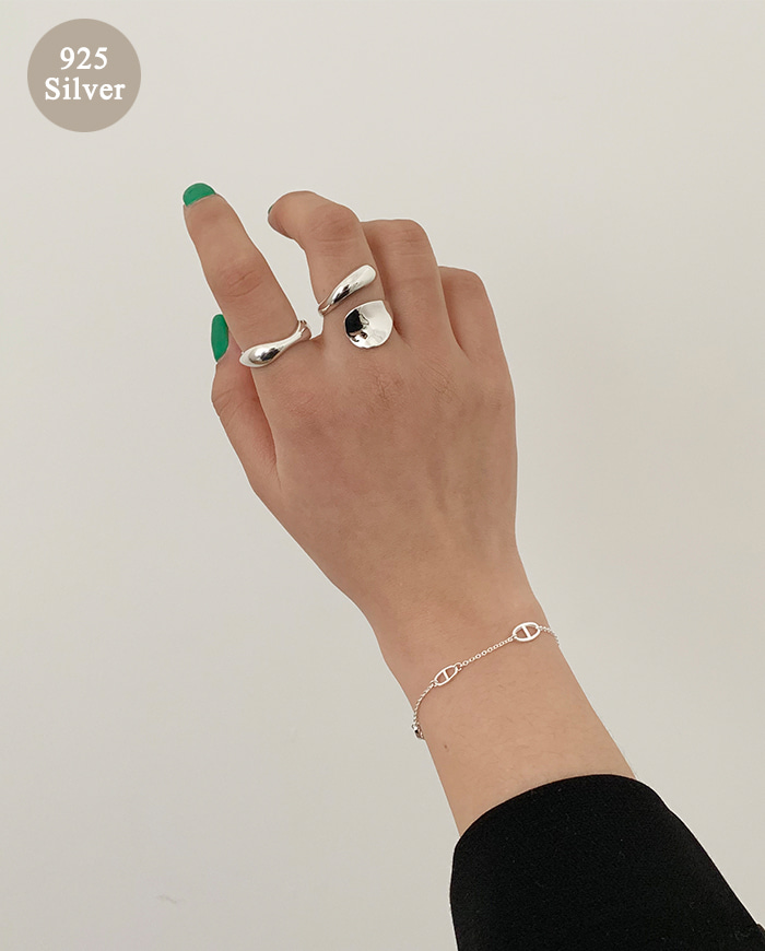 [925 Silver] Spoon bold Ring B 13-1