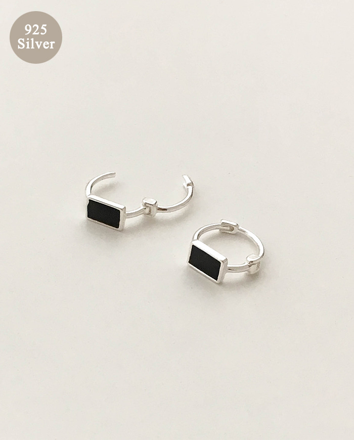[925 Silver]Basic one touch Earrings E 150