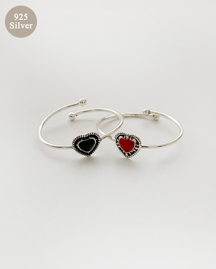 Heart spangle Ring