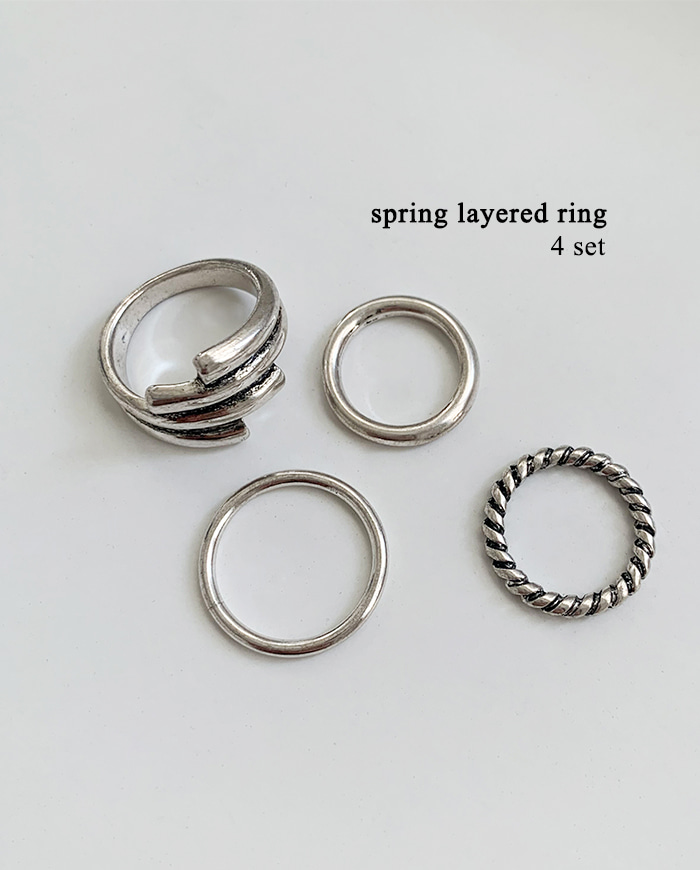 Spring layered ring set R 36